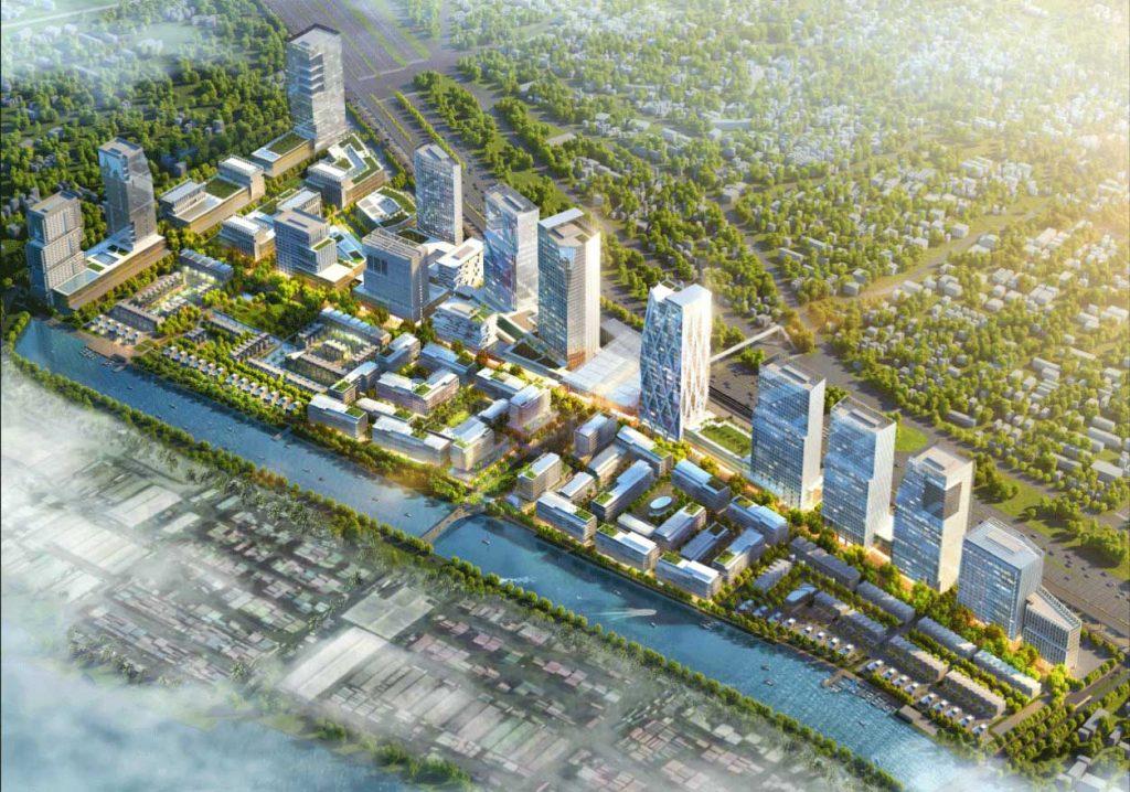 Phối cảnh tổng thể khu đô thị Saigon Quays của Refico