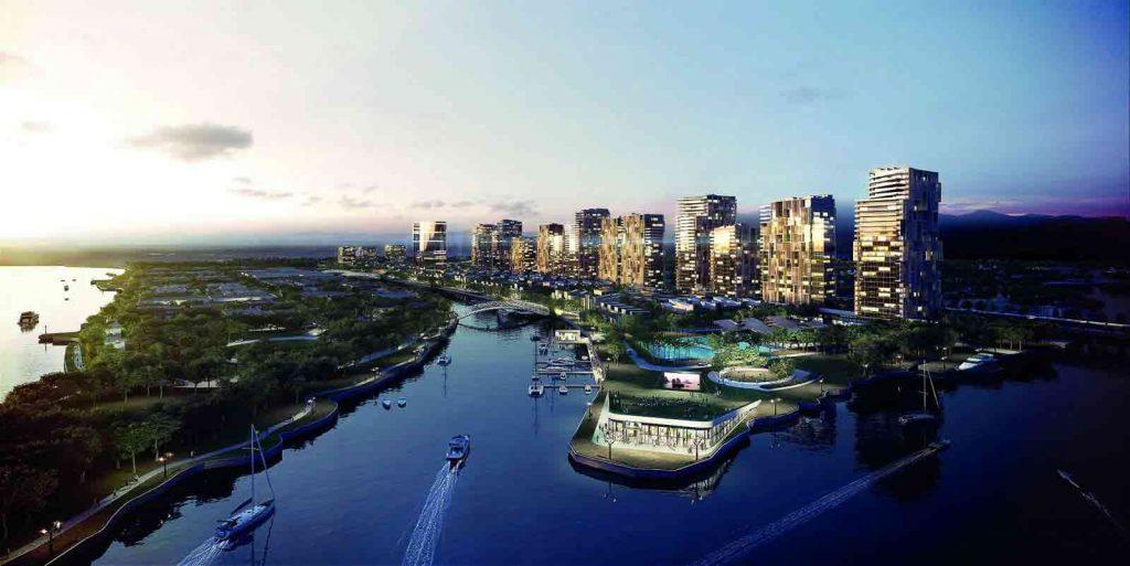 Khu đô thị Saigon Quays bên sông Sài Gòn và Rạch Chiếc